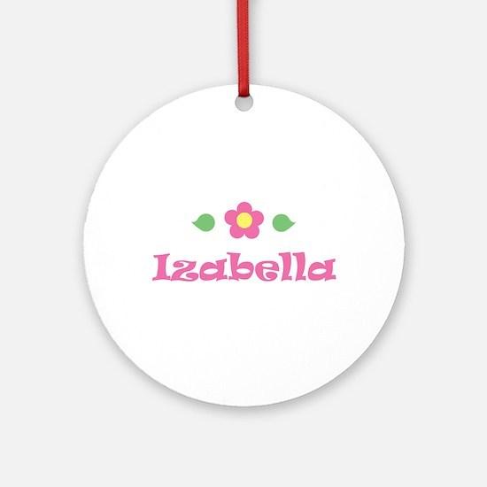 """Pink Daisy - """"Izabella"""" Ornament (Round)"""