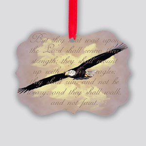 Wings as Eagles Bible Verse Picture Ornament