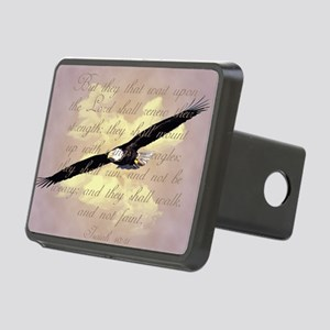 Wings as Eagles Bible Vers Rectangular Hitch Cover