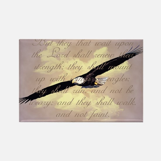 Wings as Eagles Bible Verse Rectangle Magnet