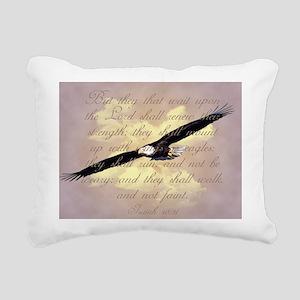 Wings as Eagles Bible Ve Rectangular Canvas Pillow