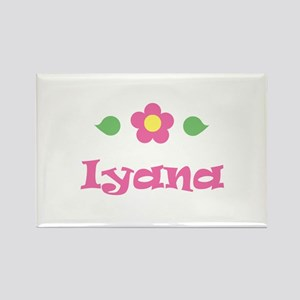 "Pink Daisy - ""Iyana"" Rectangle Magnet"