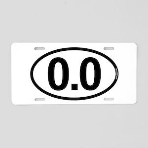 0.0 Zero Marathon Runner Aluminum License Plate