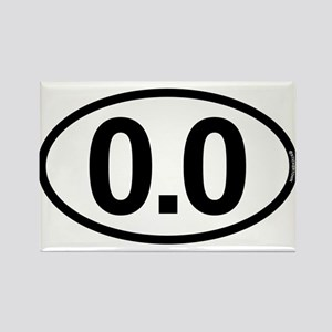 0.0 Zero Marathon Runner Rectangle Magnet