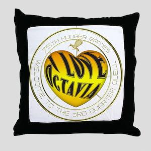 I Love Octavia Heart Throw Pillow