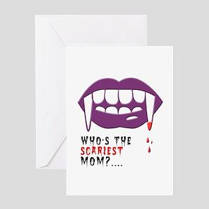 Vampire Mom Greeting Cards