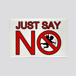 JUST SAY NO TO CUPID Rectangle Magnet