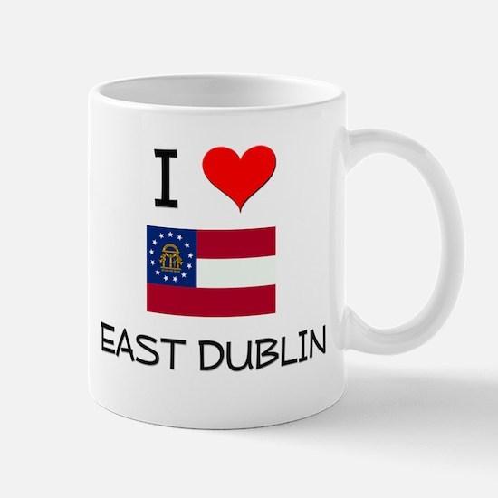 I Love EAST DUBLIN Georgia Mugs