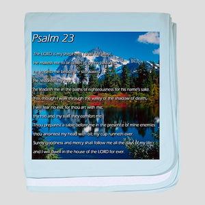 Psalm 23 baby blanket