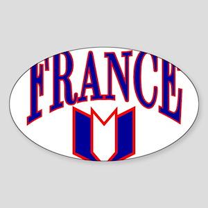 FRANCE SHIRT FRANCE T-SHIRT F Oval Sticker