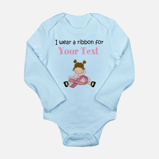 Personalized Breast Cancer Ribbon Body Suit