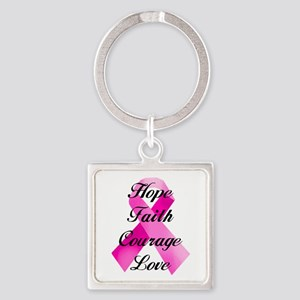 Pink Ribbon Keychains