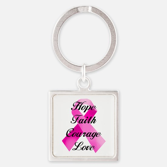 Pink Ribbon Keychains
