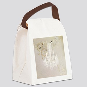 elegant chandelier floral paris Canvas Lunch Bag
