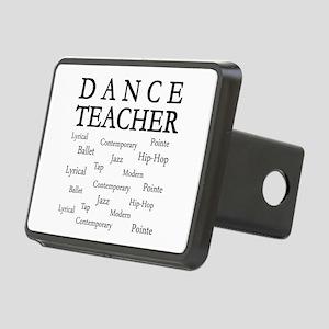 Dance Teacher Words Rectangular Hitch Cover