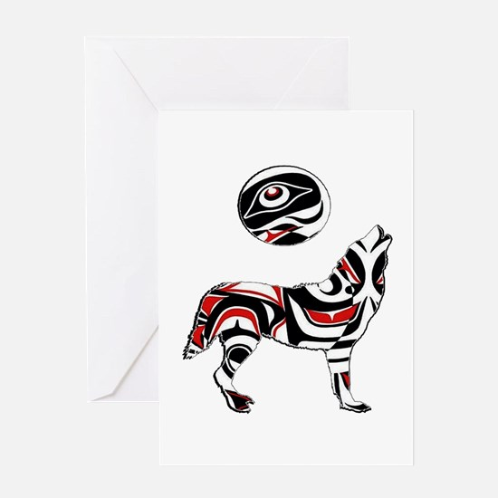 PACIFIC COASTAL HOWL Greeting Cards