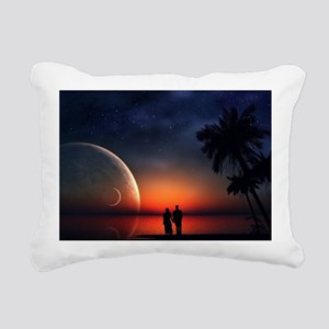A Lovers Hands Rectangular Canvas Pillow