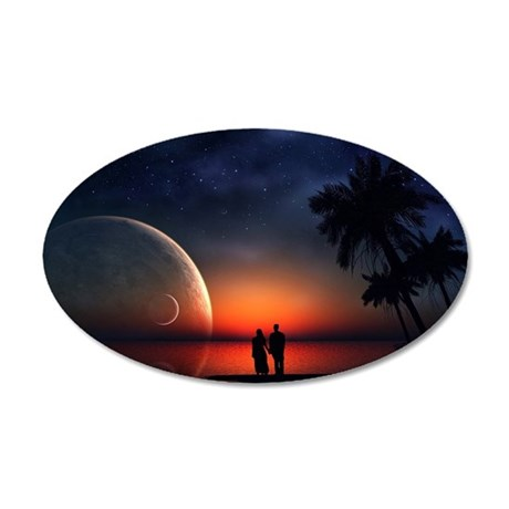 A Lovers Hands 35x21 Oval Wall Decal