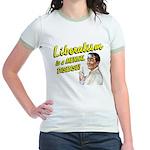 Liberalism Is A Mental Disease Jr. Ringer T-Shirt