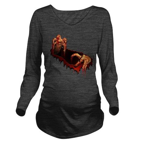 Zombie Halloween T-shirts Long Sleeve Maternity T-