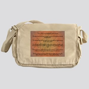 Psalm 23 Orange Script Messenger Bag