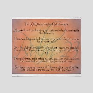 Psalm 23 Orange Script Throw Blanket
