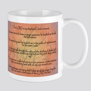 Psalm 23 Orange Script Mug
