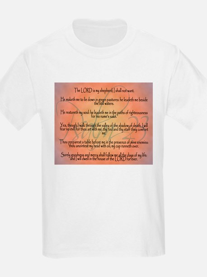 Psalm 23 Orange Script T-Shirt