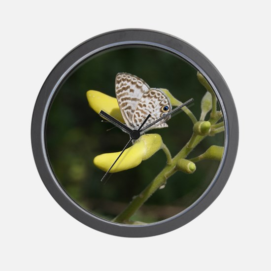 Happy Butterfly Wall Clock