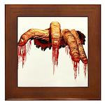 Halloween Zombie Framed Tile
