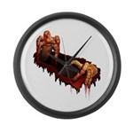 Halloween Zombie Large Wall Clock
