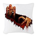 Halloween Zombie Woven Throw Pillow