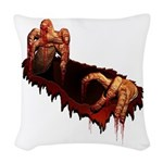 Halloween Zombie Woven Throw Pillow