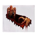 Halloween Zombie Decorations Throw Blanket