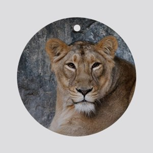 Lion008 Round Ornament