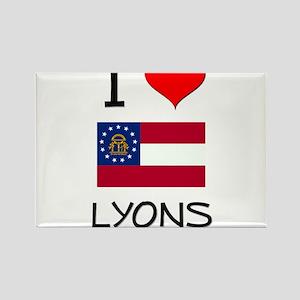 I Love LYONS Georgia Magnets