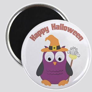 Happy Halloween Owl Witch Magnets