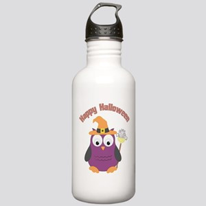Happy Halloween Owl Witch Water Bottle