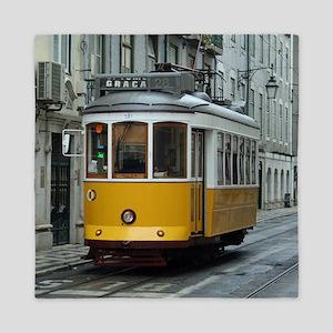 Tramway at Lisboa Queen Duvet