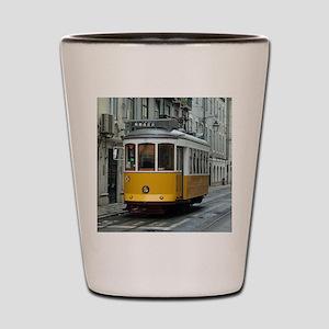 Tramway at Lisboa Shot Glass