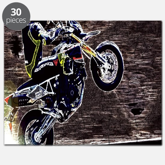 modern sporty motocycle racer Puzzle