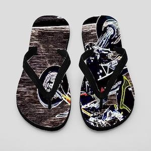 modern sporty motocycle racer Flip Flops