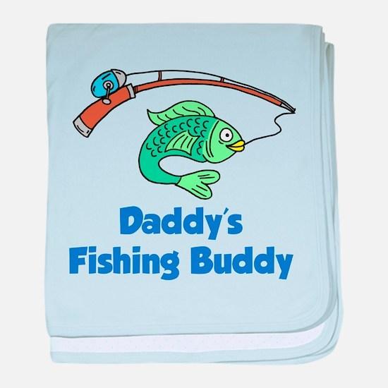 Daddys Fishing Buddy baby blanket