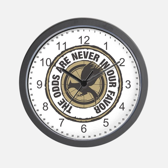 Catching Fire Odds in Our Favor Wall Clock