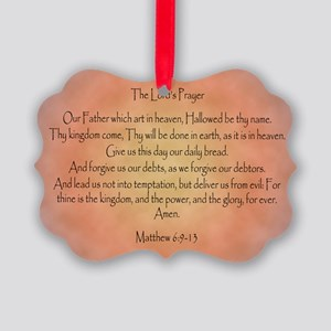 The Lord's Prayer Christian Picture Ornament