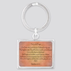 The Lord's Prayer Christian Landscape Keychain