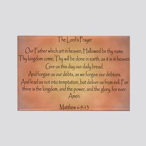 The Lord's Prayer Christian Rectangle Magnet