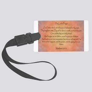 The Lord's Prayer Christian Large Luggage Tag