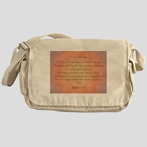 The Lord's Prayer Christian Messenger Bag