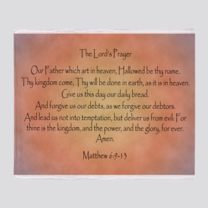 The Lord's Prayer Christian Throw Blanket